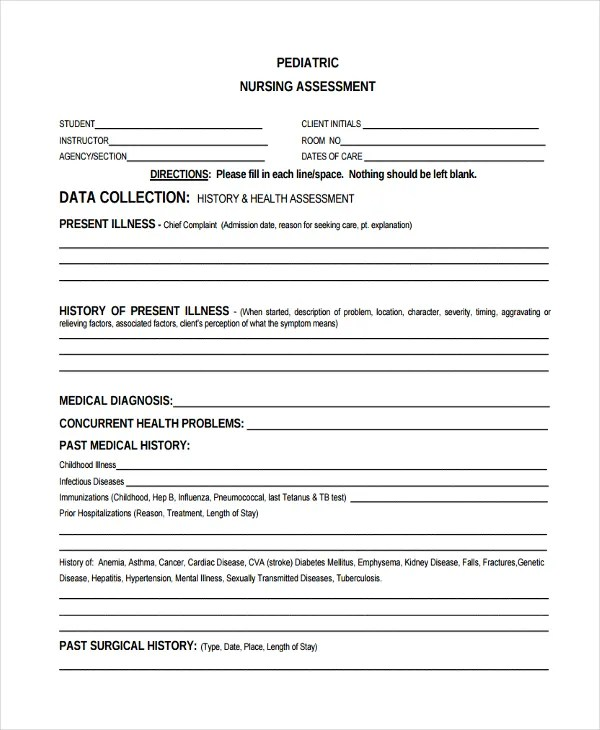 47+ Assessment Form Examples Free \ Premium Templates - sample health assessment