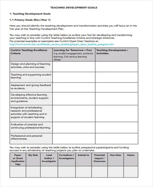 Performance Development Plan Templates - 9+ Free Word, PDF Format
