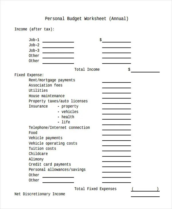 Annual Budget Templates - 5+ Free Word, PDF, Format Download Free