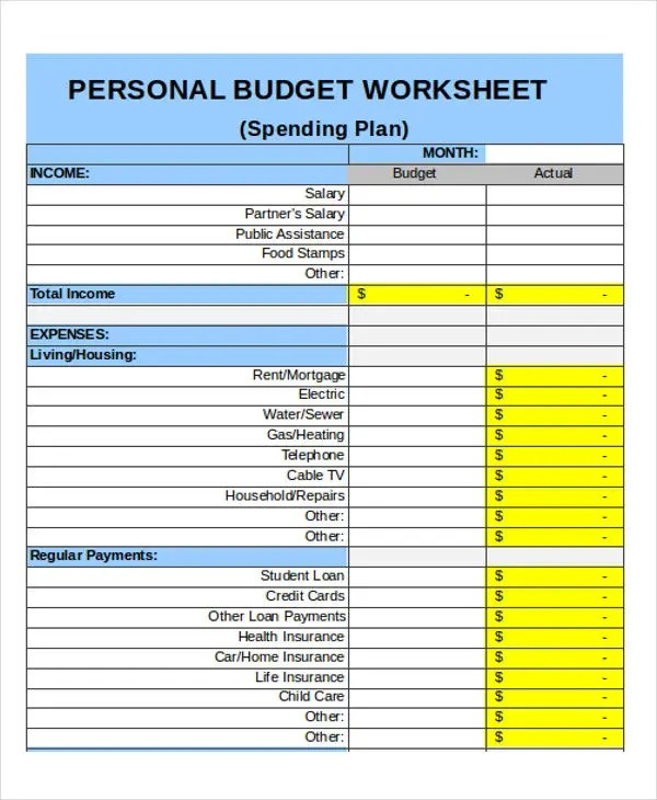 25 Budget Templates in Excel Free \ Premium Templates - spending plan template