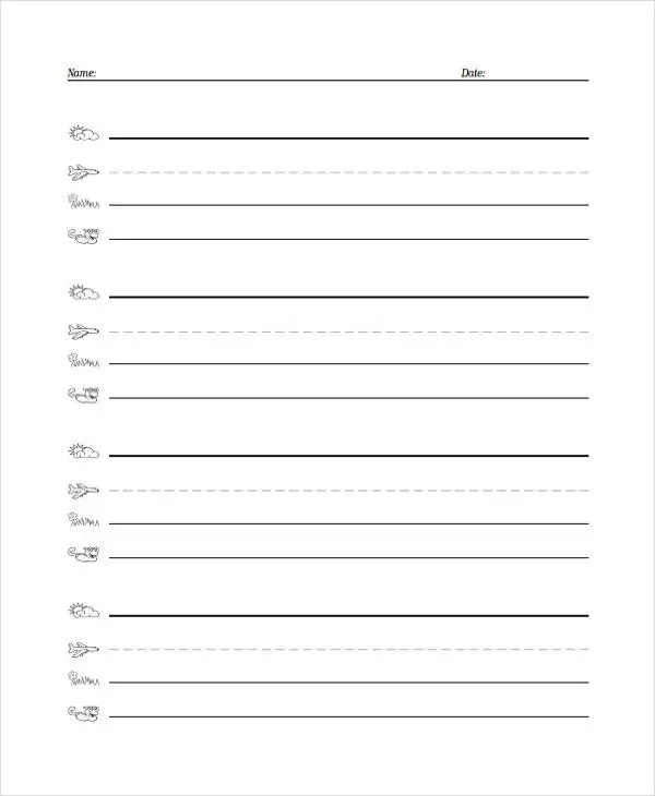 26+ Sample Lined Paper Templates Free  Premium Templates - lined paper for printing