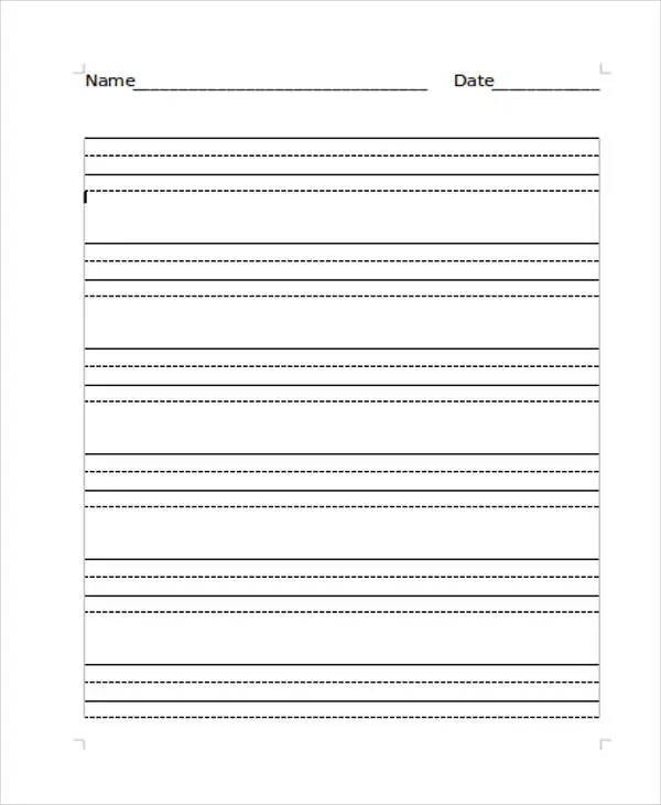 primary lined paper template - Goalgoodwinmetals - lined paper with picture