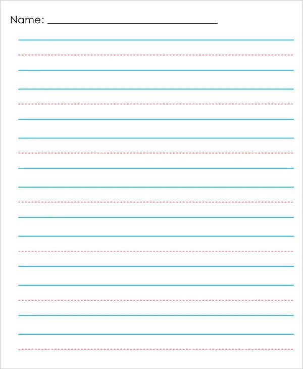 Lined Paper Template For Word Templatebillybullock  - lined paper pdf
