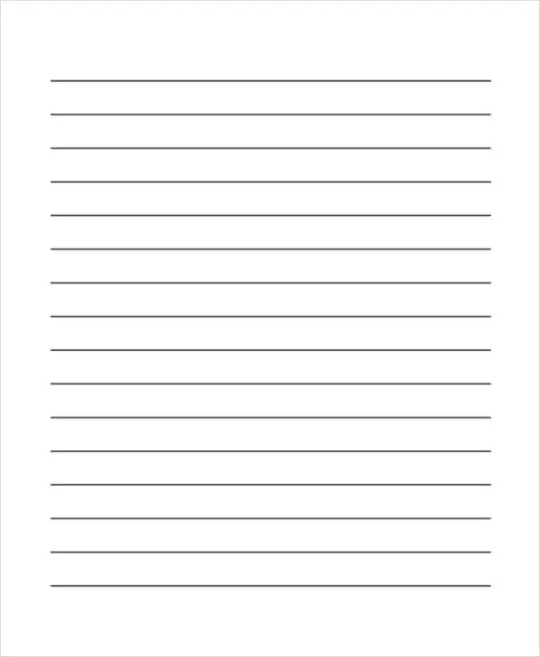 29+ Printable Lined Paper Templates Free  Premium Templates - blank writing sheet