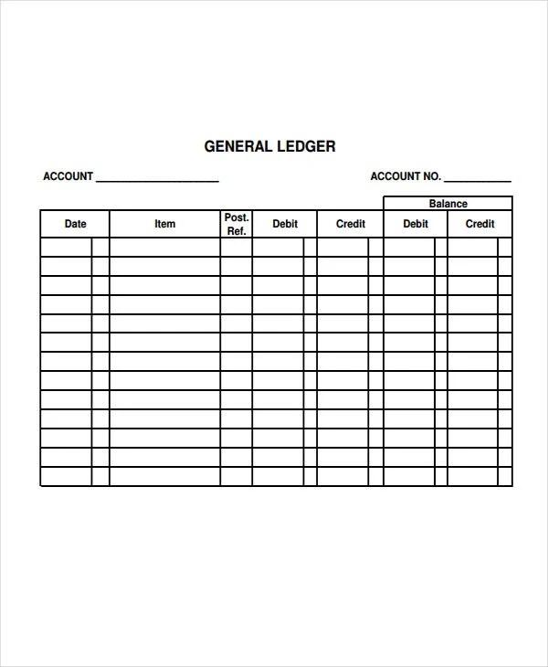4+ Ledger Paper Templates - Free Samples, Examples, Format Download - printable ledger