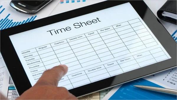 28 Printable Timesheet Templates Free  Premium Templates