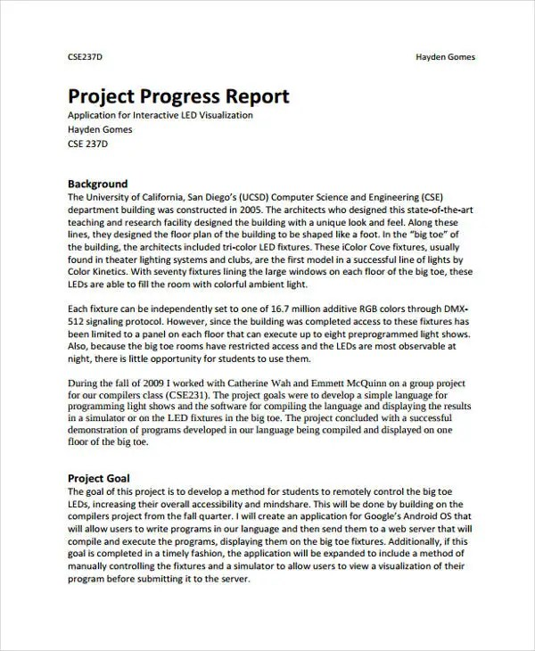 33 Project Report Samples Free  Premium Templates - sample project report