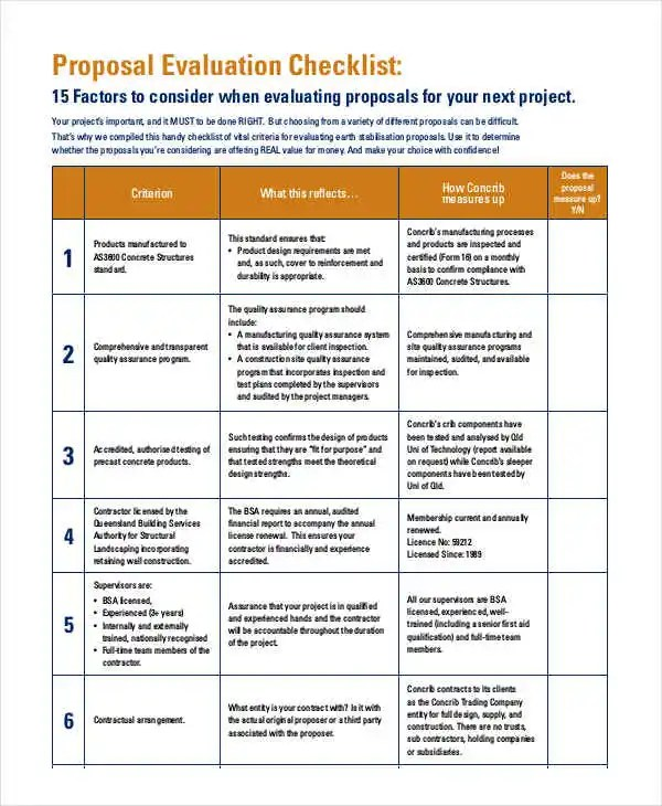 8 Project Evaluation Checklist Templates - Free Samples, Examples - project evaluation