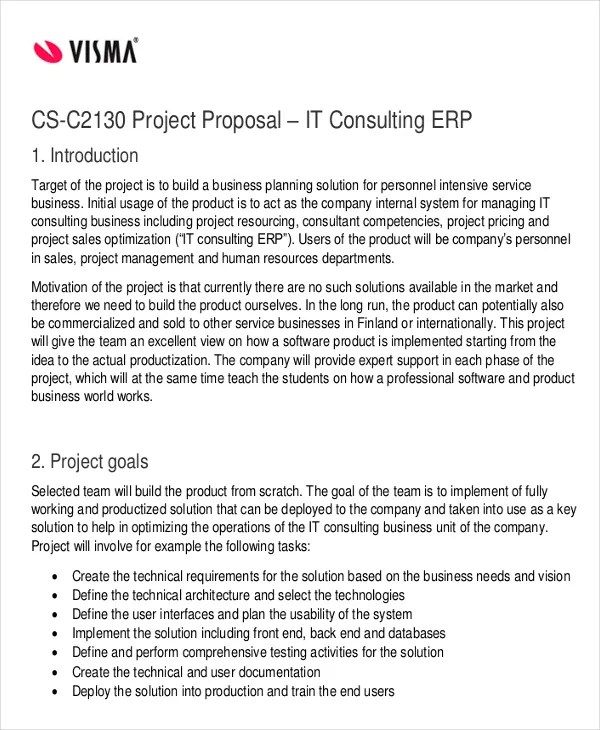 consultancy services proposal template - Minimfagency - it services proposal
