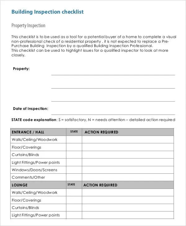 buildings maintenance checklist - Towerssconstruction