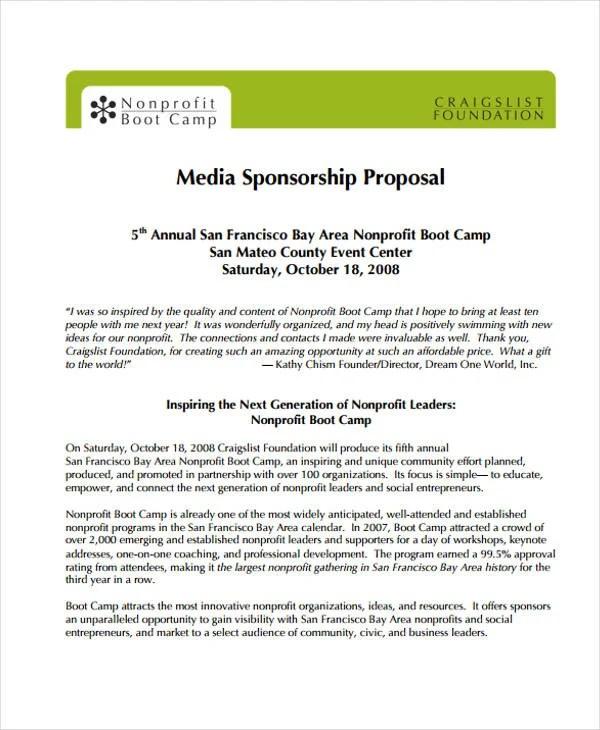 11+ Sponsorship Proposal Examples Free  Premium Templates - example sponsorship proposal