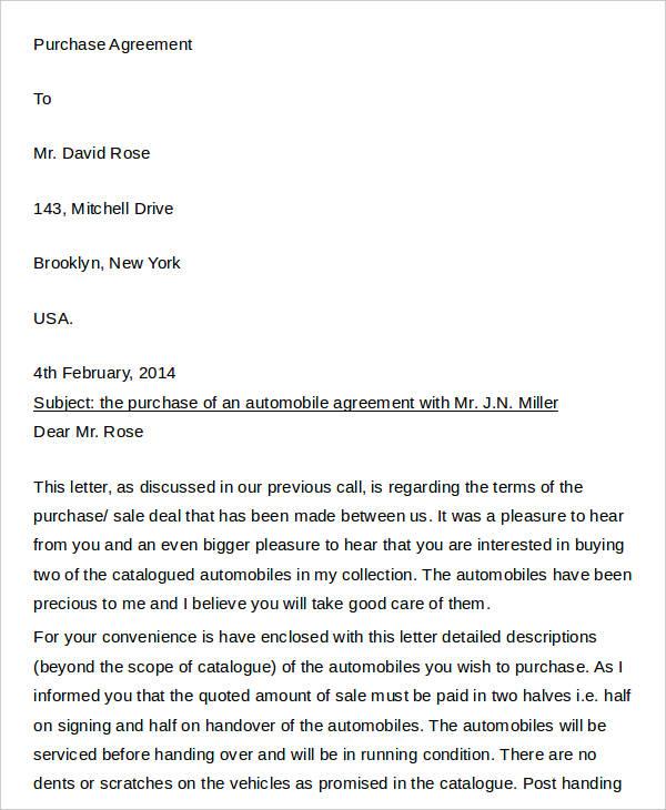 23+Agreement Letter Templates Free  Premium Templates