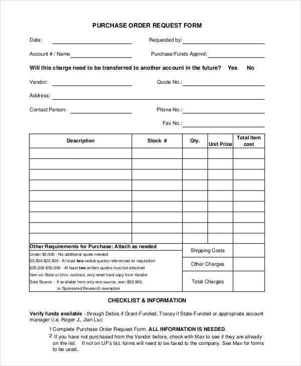 order request form - Mersnproforum - purchase order request forms