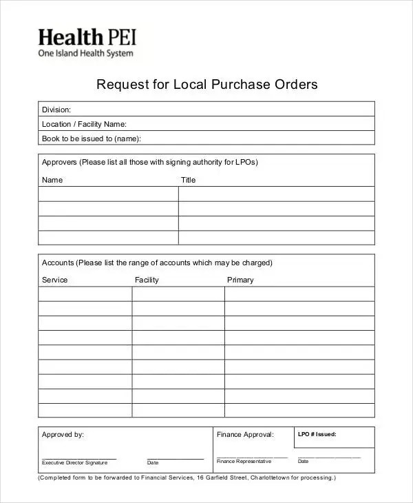 14+ Purchase Order Formats Free  Premium Templates
