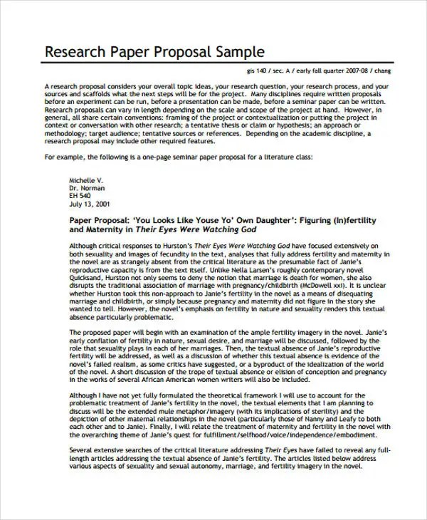33+ Proposal Formats Free  Premium Templates - research paper proposal template