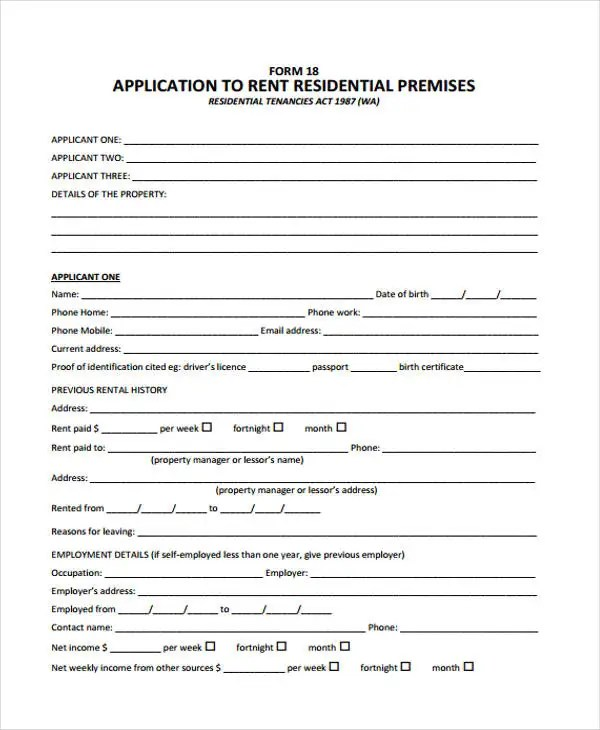 44+ Basic Application Forms Free  Premium Templates
