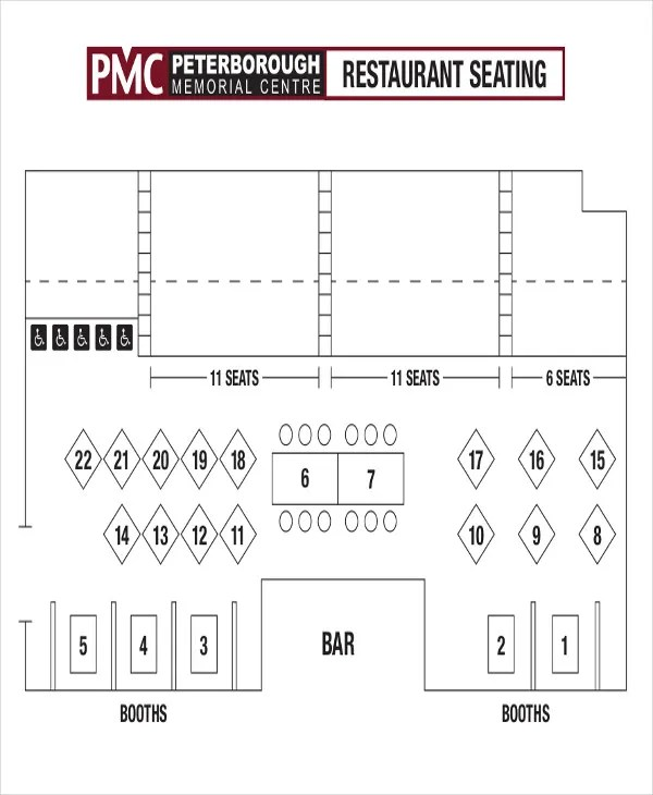 5+ Table Chart Templates - Free Samples, Examples Format Download - restaurant table layout templates