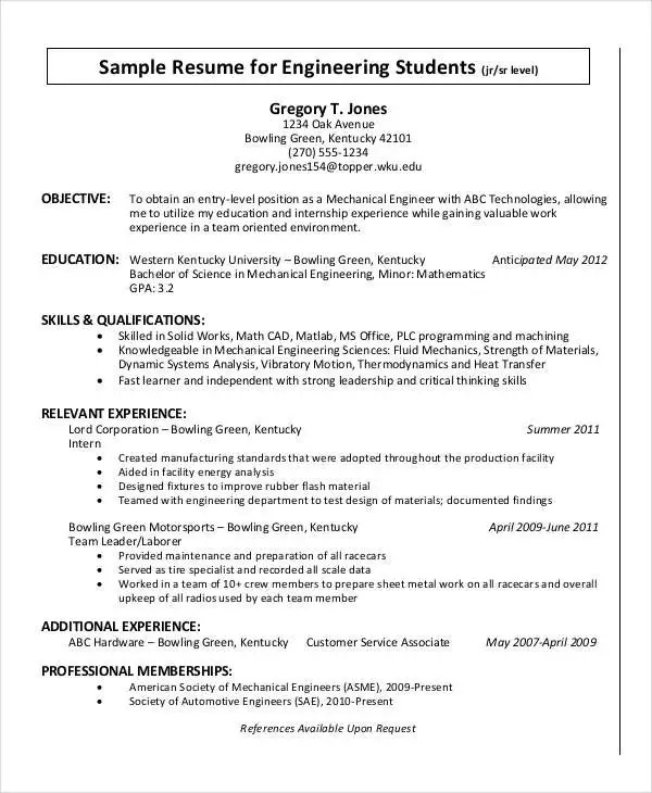36+ Resume Format - Free Word, PDF Documents Download Free - Relevant Experience Resume