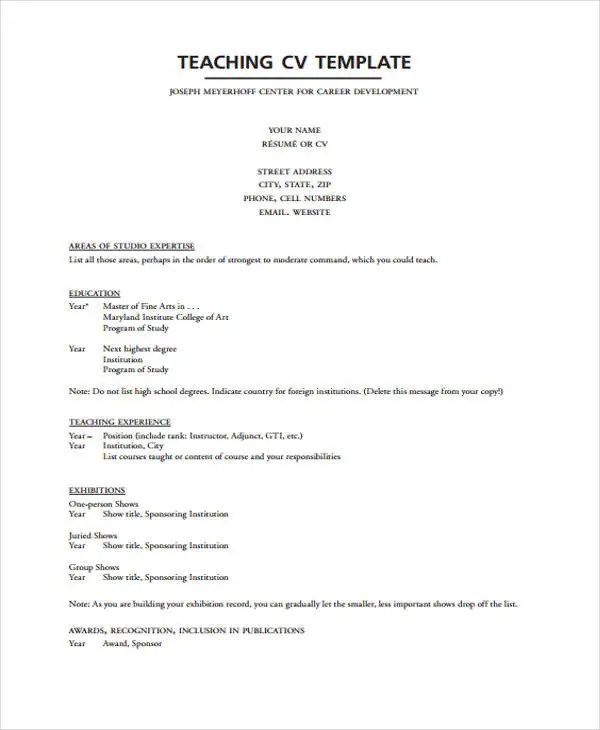 types of resume format sample