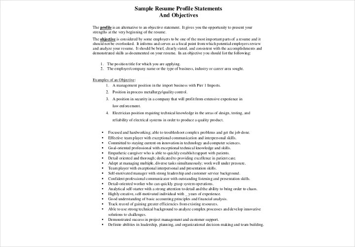 what is your profile on a resume ideas free downloadable