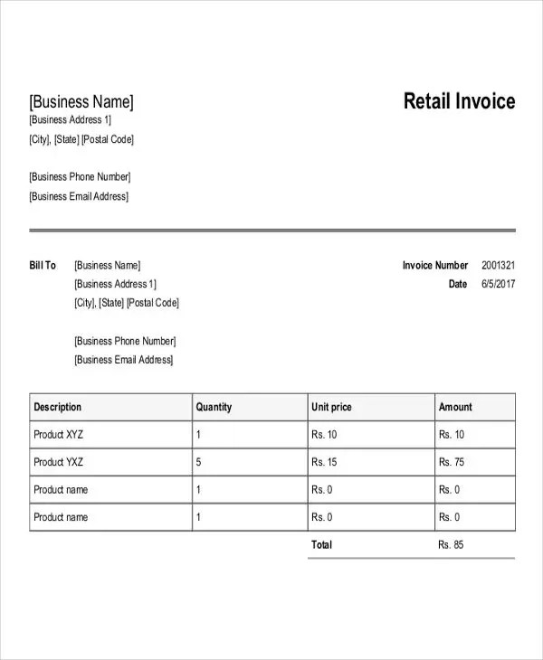 Purchase Invoice Templates - 12Free Word, PDF, Format Download
