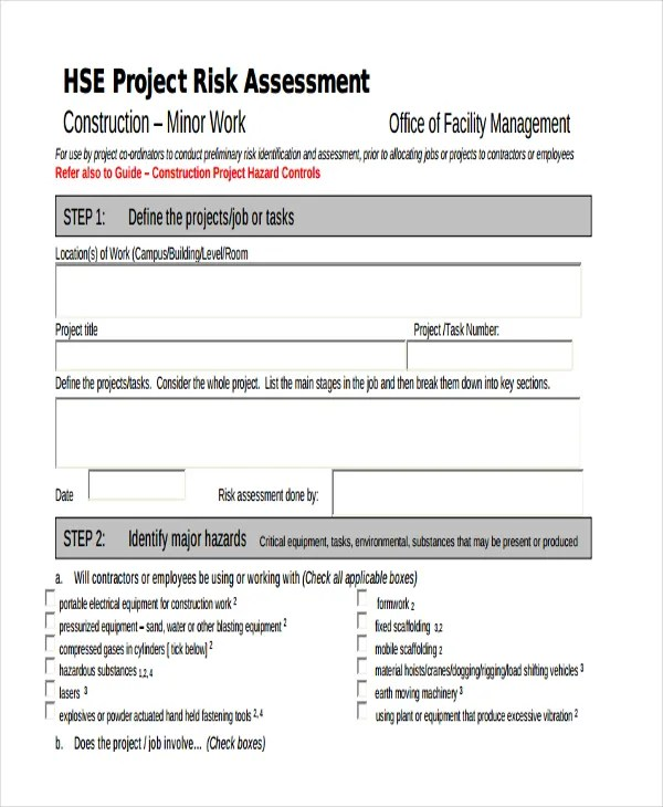 project management risk assessment - Delliberiberi