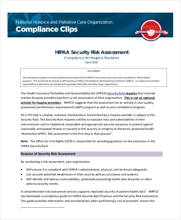10+ Security Risk Assessment Templates - Free Samples, Examples - sample security risk assessment