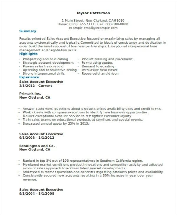 31+ Executive Resume Templates in Word Free  Premium Templates
