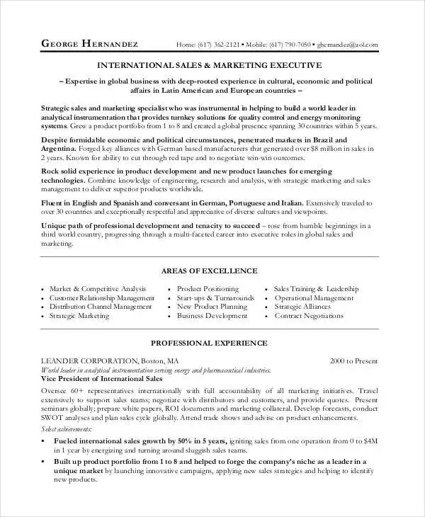 27+ Marketing Resume Templates in PDF Free  Premium Templates