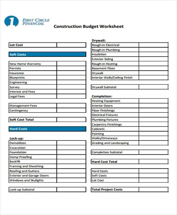31 Budget Templates Free  Premium Templates