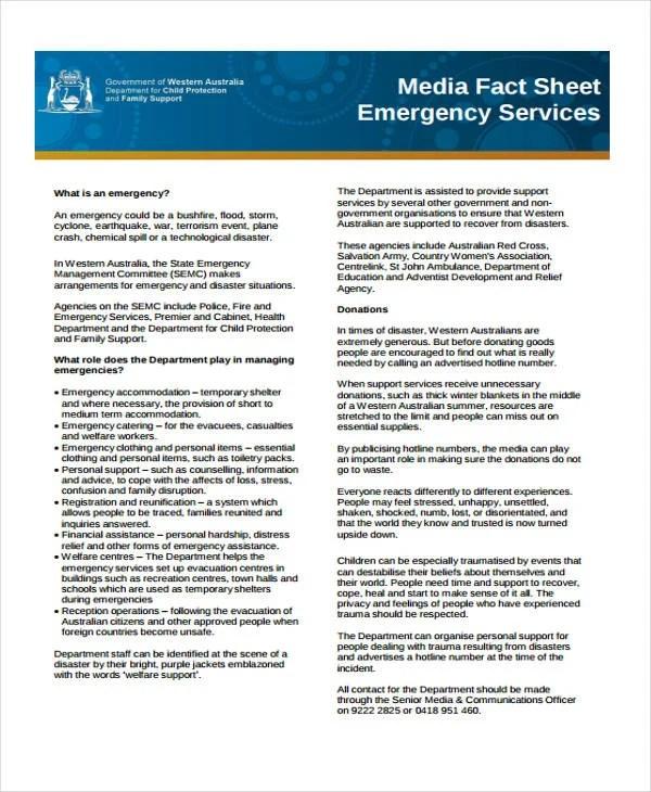 32 Fact Sheet Templates in PDF Free  Premium Templates - fact sheet templates