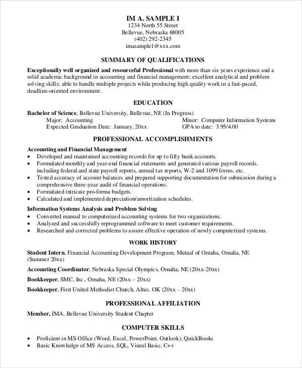31 Resume Format- Free Word, PDF Documents Download Free - comprehensive resume format