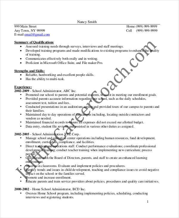 26+ Manager Resume Templates - PDF, DOC Free  Premium Templates - Administrative Manager Resume