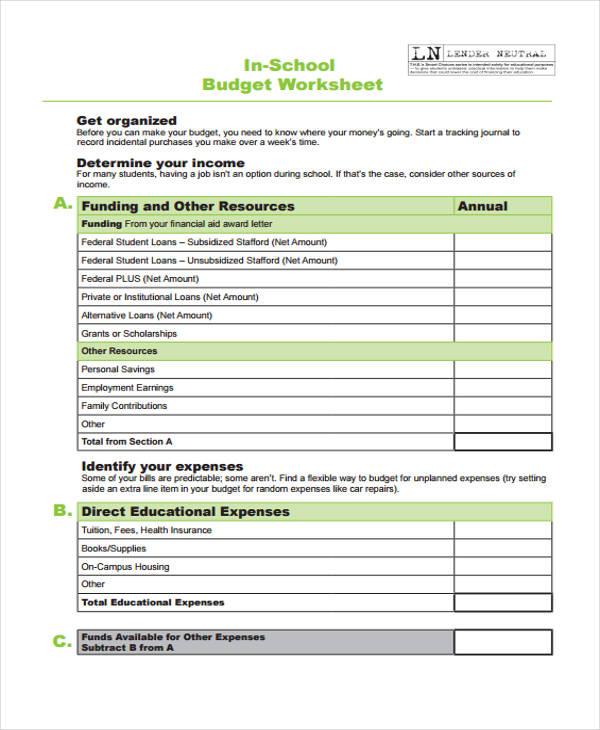 29 sample budget templates free premium templates