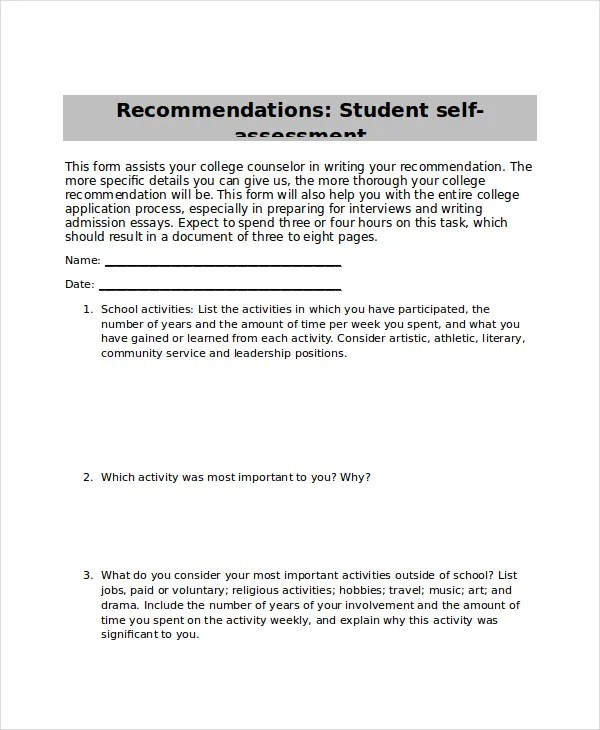 self assessment templates - Militarybralicious - leadership self assessment