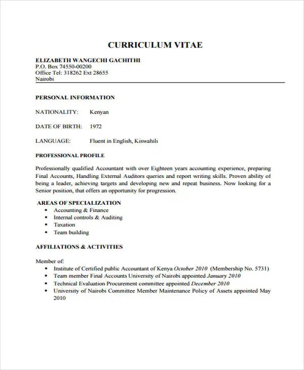 20+ Resume Formats in PDF Free  Premium Templates - cv formats