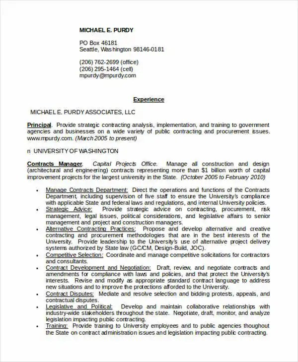 Nice Contracts Manager Resume Contemporary - Resume Ideas - bayaarinfo - construction contracts manager sample resume