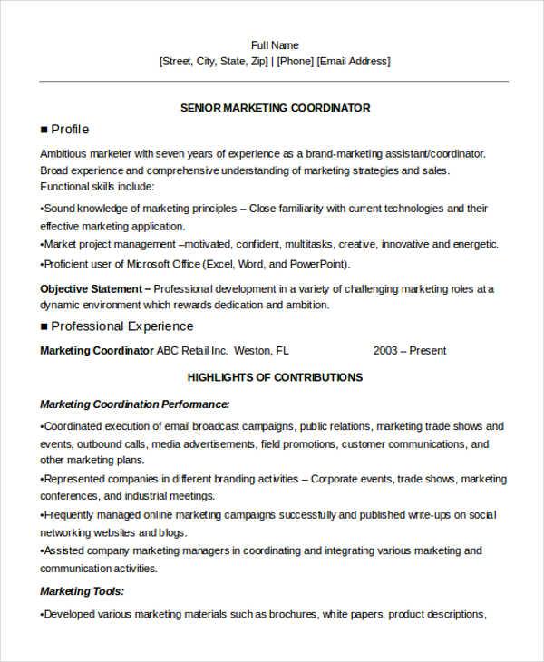 27+ Marketing Resume Templates in PDF Free  Premium Templates - online marketing assistant sample resume