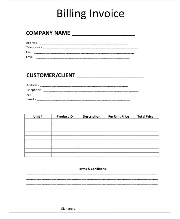 Simple Invoice Templates - 11 Free Word, PDF Format Download Free