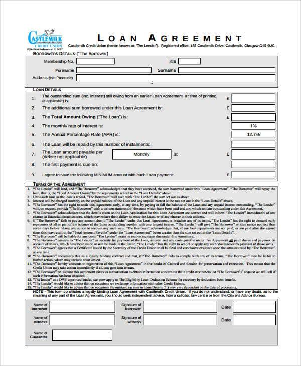 simple loan agreement