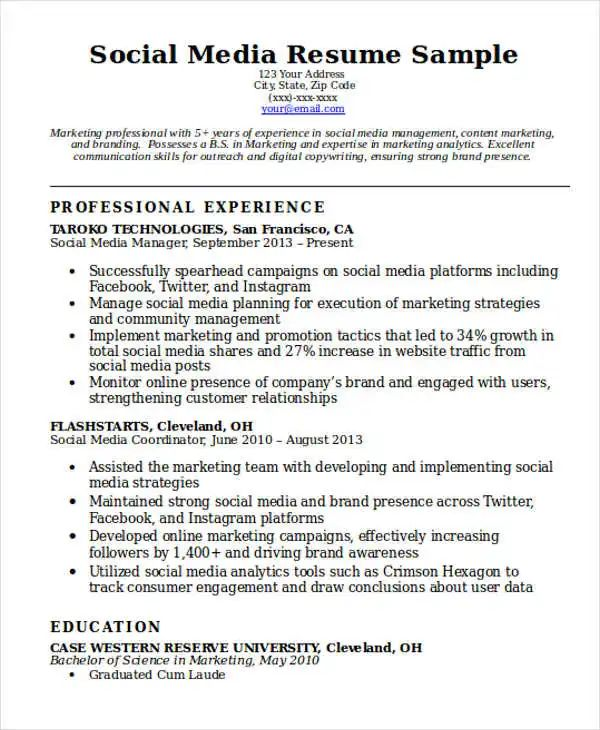 social skills examples for resume