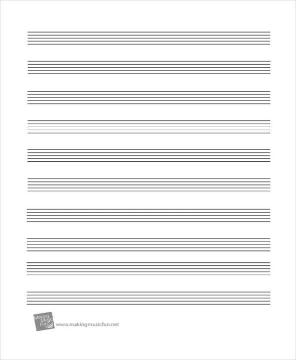 Large Staff Paper Pdf \u2013 Music