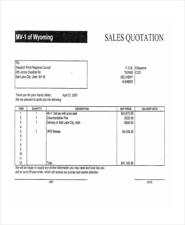 quotation sales - Elisdlugopisyreklamowe
