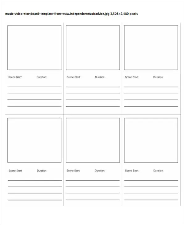 video storyboard template tutornowinfo - free storyboard templates