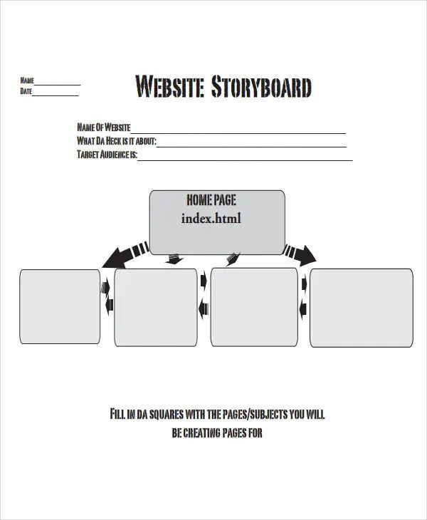 17+ Storyboard Templates in PDF Free \ Premium Templates - website storyboard