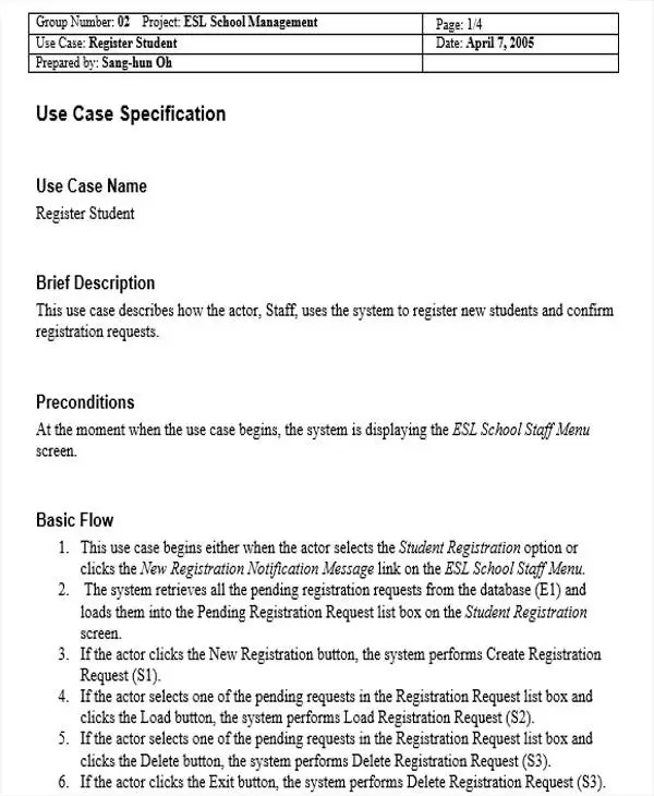 17+ Use Case Templates in Word Free  Premium Templates - use case template