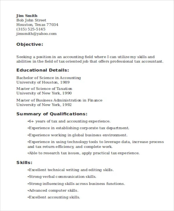 15+ Accountant Resume Templates - PDF, DOC Free  Premium Templates - resume samples for accounting jobs