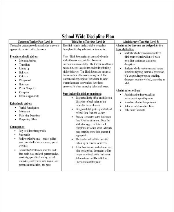 11+ Classroom Management Plan Templates - Free PDF, Word Format