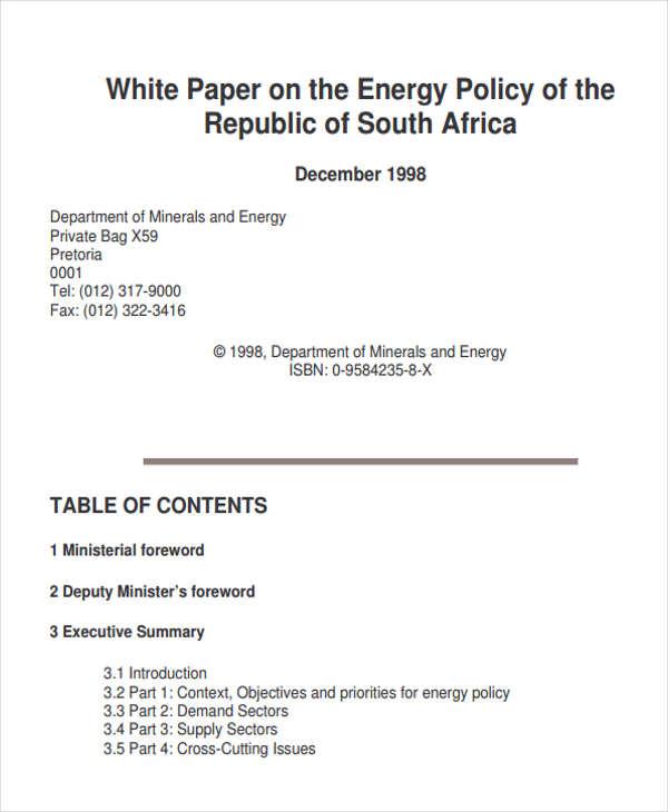 49 White Paper Templates Free  Premium Templates