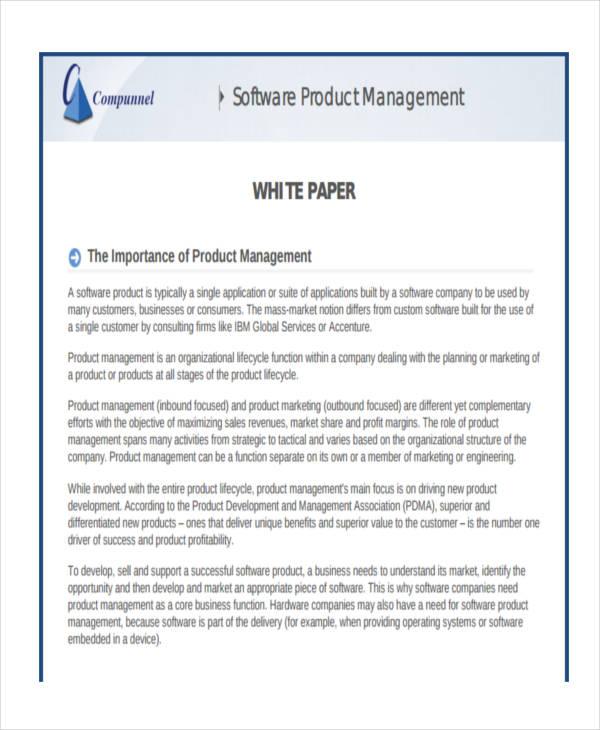 38+ Sample White Paper Templates Free  Premium Templates - sample white paper